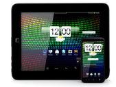 Tablet pc ve smartphone — Stok fotoğraf