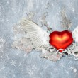 Stock Photo: Heart with wings