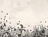 Floral silhouette — Stock Photo