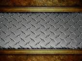 трещины металлический фон — Стоковое фото