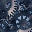 Metallic gears background — Foto Stock