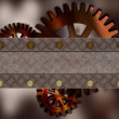 Metallic gears background — Stock Photo
