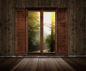 Window overlooking — Stock Photo