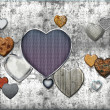 Stock Photo: Abstract heart background