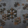 Abstract 3D Snowflakes Design — Stock Photo