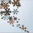 Abstract 3D metal Snowflakes — Stock Photo