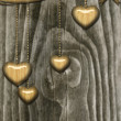 Wooden hearts - Stock Photo