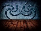在室内的木材纹理的背景 — 图库照片