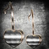 Metal hearts — Stock Photo