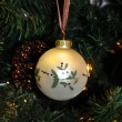 Christmas decoration whaite ball — Stock Photo #2763451