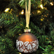 Christmas decoration brown ball — Stock Photo #2763466