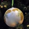 White ball on Christmas tree — Stock Photo #2763595