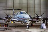 Twin-turboprop aircraft Beechcraft King Air 350 — Stock Photo