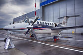 Twin-turboprop aircraft Beechcraft King Air 350 — Stock Photo