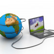 Global internet concept — Stock Photo