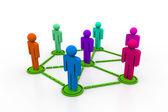 Business-netwerk — Stockfoto