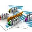 Business with profit chart — Stock Photo