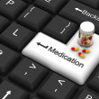 Medication enter key — Stock Photo