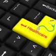 Healthcare enter key — Stock Photo
