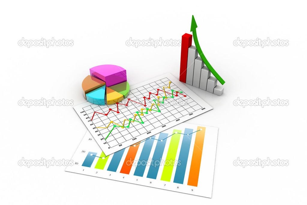 Business graph with chart — Stock Photo #14173374