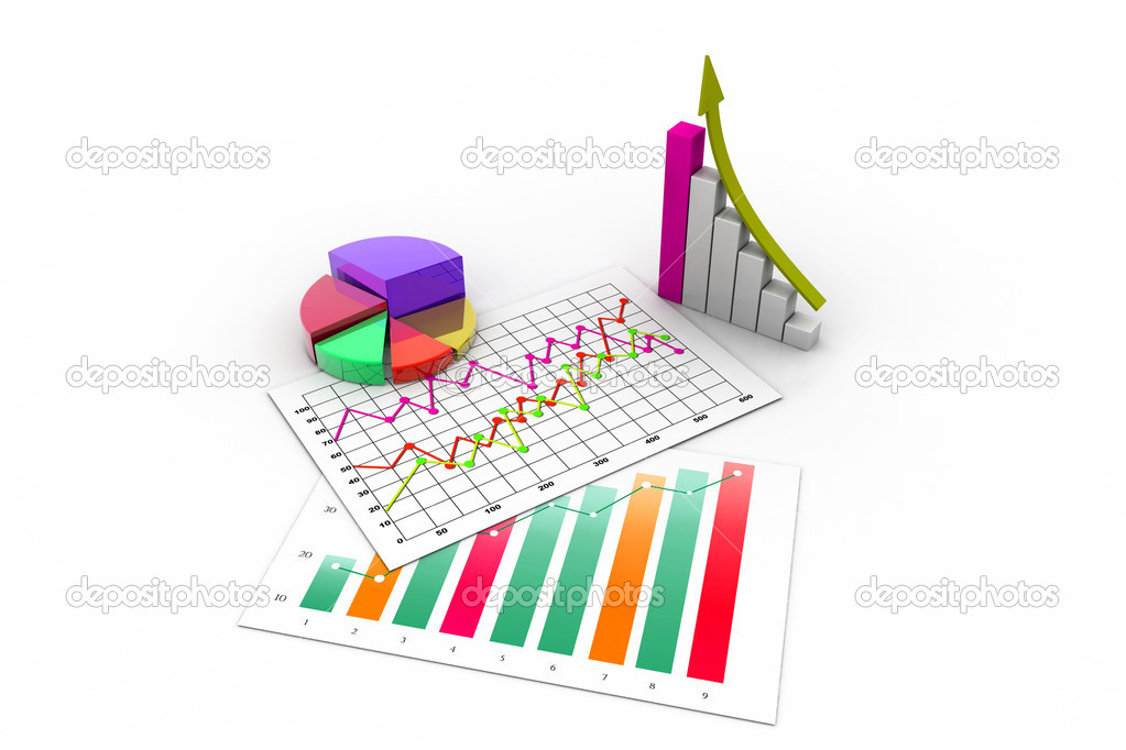Business graph with chart — Stock Photo #14173381