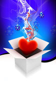 Heart gift box — Stock Photo