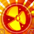 Stock Photo: Radiation symbol