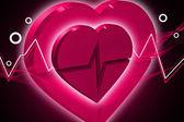 Srdce ekg心電図を心します。 — Stock fotografie