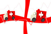 Ambulance symbol — Stock Photo