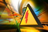 электрические предупреждение — Стоковое фото
