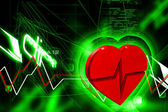 Heart ECG — Stock Photo