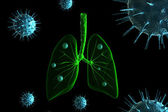 Virus infection in lungs — Stock Photo