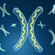 Chromosome in digital background — Stock Photo