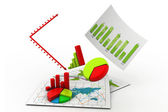 In Business graph chart — Stock Photo
