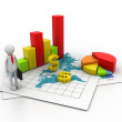 Stock Photo: Business graph concept