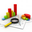 Business graph analyzing — Stock Photo