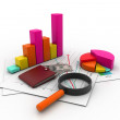 Stock Photo: Business graph analyzing