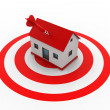 Stock Photo: House target