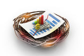 Financial graph in nest. (business Growth concept) — Stock Photo