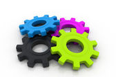 3d colorful gears — Stock Photo