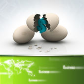 Investment concept with white egg shells — Stock Photo