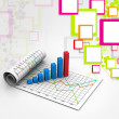 Business graph with chart — Stock Photo