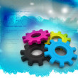 Royalty-Free Stock Photo: Cmyk gears on abstract background