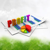 Business profit graph — Stock Photo