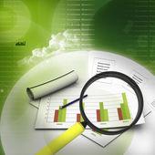 Business graph analysing — Stock Photo