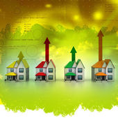 Growing home sale in abstract background — Stok fotoğraf