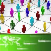Rede de negócios — Fotografia Stock