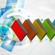 Stock Photo: Colorfull folders in abstract background