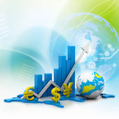 World business graph — Stockfoto