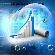 Business graph in digital design - Stock Photo